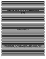 CONSTITUTION OF KENYA REVIEW COMMISSION - ConstitutionNet