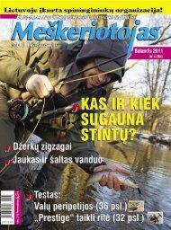 Meškeriotojas 2011 Nr. 4(184) Balandis