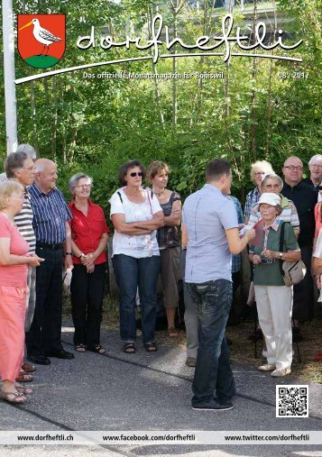 Das offizielle Monatsmagazin für Boniswil 08 / 2012 Das offizielle ...