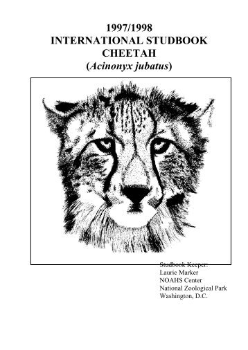INTERNATIONAL STUDBOOK CHEETAH - San Diego Zoo Global ...