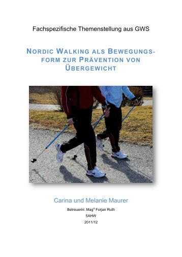 nordic walking als bewegungs - Sparkling Science