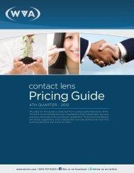 Pricing Guide - WVA