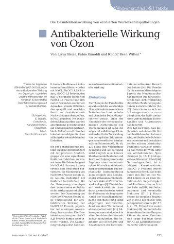 Antibakterielle Wirkung von Ozon - Endodienste.de