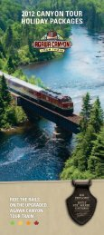 holiday packages 2012 canyon tour - Tourism Sault Ste. Marie