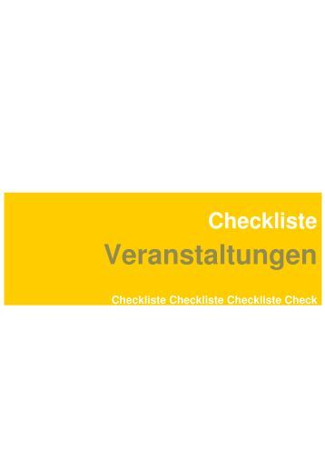 checkliste f r infoveranstaltung am ausgestrahlt. Black Bedroom Furniture Sets. Home Design Ideas