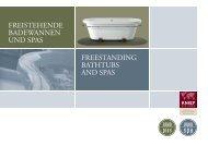 freistehende badewannen und spas freestanding bathtubs ... - bathline