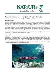 Seekajaktour Kroatien / Dalmatien