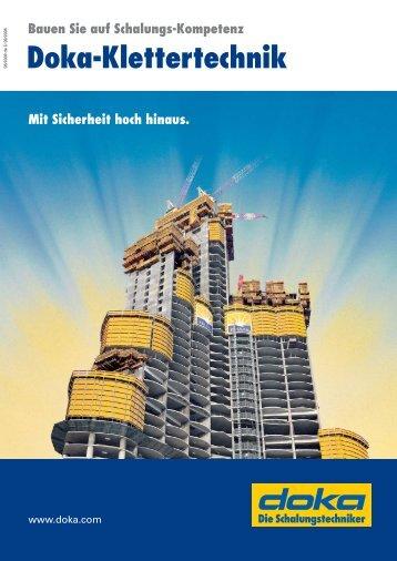 Broschüre Doka-Klettertechnik de