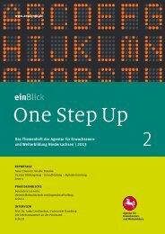 EinBlick One Step Up - Agentur für Erwachsenen- und Weiterbildung