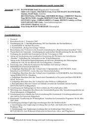 Sitzung des Gemeinderates vom 09. August 2007 Anwesend : die ...