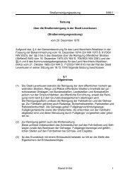 Straßenreinigungssatzung 5/66/1 Satzung über ... - Stadt Leverkusen