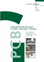 Fachgespräch PCB-Sanierungen - Gesundheitsamt Bremen