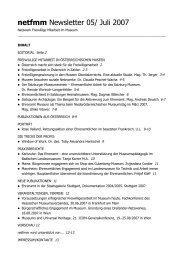 netfmm Newsletter 05/ Juli 2007 - Oberösterreichischer ...
