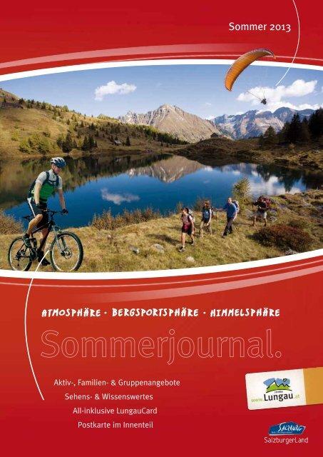 Sommerjournal 2013 - Ferienregion Lungau