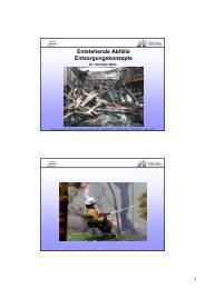 Entstehende Abfälle Entsorgungskonzepte - FSU
