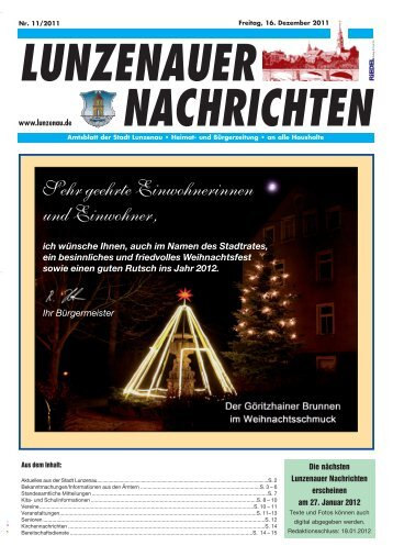 Dezember 2011 - Lunzenau