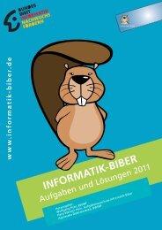 Aufgaben 2011 mit Lösungen - Informatik-Biber