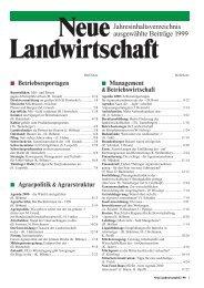 Jahresinhaltsverzeichnis ausgewählte Beiträge 1999