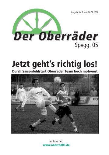 Stadionzeitung 02/2001 - Spvgg. 05 Frankfurt-Oberrad