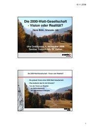 Die 2000-Watt-Gesellschaft - Gruneko Schweiz AG