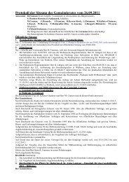 Protokoll der Sitzung des Gemeinderates vom 26.09.2011 - Lontzen