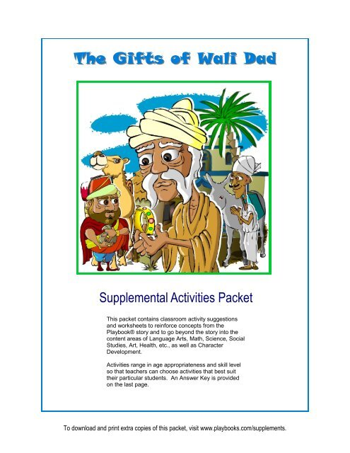 The Gifts of Wali Dad - Playbooks® Roleplay Reader