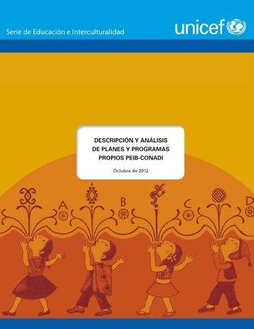 descripción y análisis de planes y programas propios peib ... - Unicef