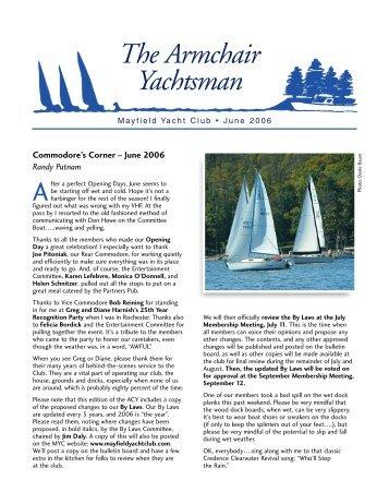 The Armchair Yachtsman - Mayfield Yacht Club
