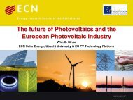 The future of Photovoltaics and the European Photovoltaic ... - imntp
