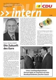 Die Zukunft des Euro - CDU Kreisverband Ludwigsburg