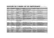 ELEVCON 2012 MIAMI LIST OF PARTICIPANTS UPDATE 24 MAY ...