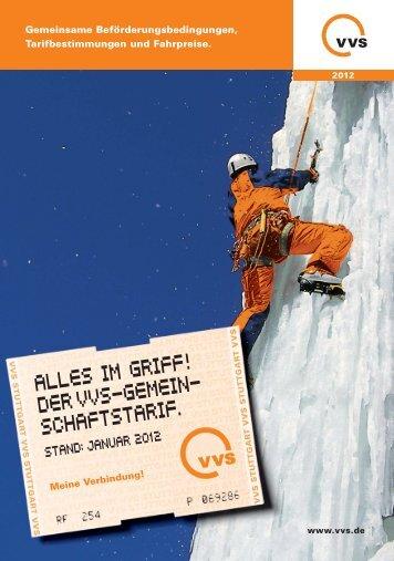ALLES IM GRIFF! DER VVS-GEMEIN- SCHAFTSTARIF. - Bahn.de