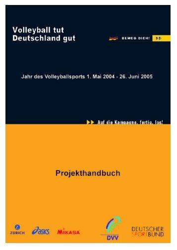 Projekthandbuch - Volleyball tut Deutschland gut