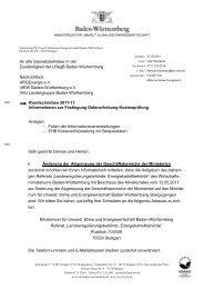 An alle Gasnetzbetreiber in der Zuständigkeit der LRegB Baden ...