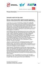 Presse-Information Schneller mobil mit City mobil - VCD