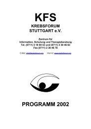KFS - Krebsforum Stuttgart e.V. - transgallaxys
