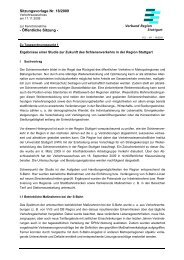 Ergebnisse einer Studie - Verband Region Stuttgart