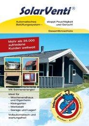 solar-pfendler SolarVenti Broschuere 2011