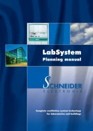 2.0 LabSystem Fume hood monitors - Schneider Elektronik GmbH