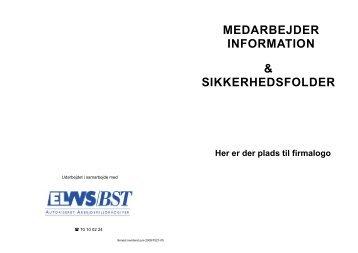 & SIKKERHEDSFOLDER MEDARBEJDER ... - El- og VVS/BST