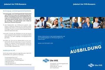 AUSBILDUNG PERSPEKTIVE Jobstart im VVS-Konzern