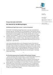 Presseinformation (als pdf) - Verband Region Stuttgart