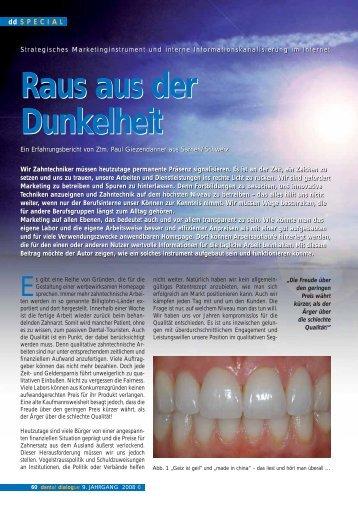 Raus aus der Dunkelheit - Dentallabor P. Giezendanner AG