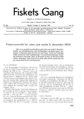 Fiskets Gang, nr 49, 1953 - Fiskeridirektoratets bibliotek