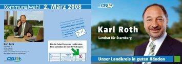 Karl Roth - Landrat für Starnberg