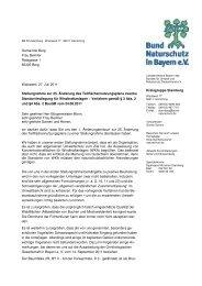 Windkraftanlagen in der Gemeinde Berg - Bund Naturschutz in ...