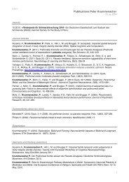 Publications Peter Krummenacher - Collegium Helveticum