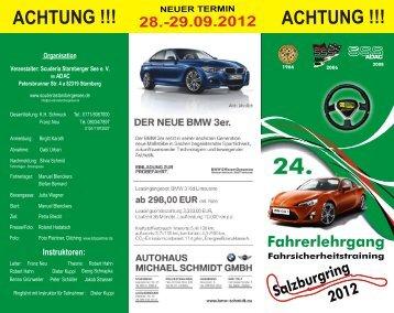 Fahrerlehrgang 2012 - Scuderia Starnberger See