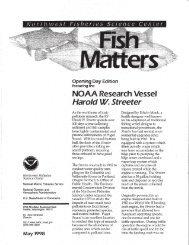 Fish Matters-- NOAA Research Vessel Harold W. Streeter