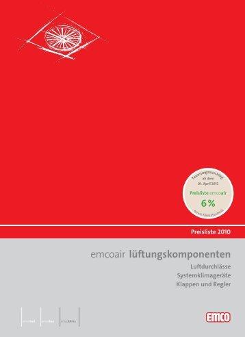 Download emcoair Preisliste - emco klima